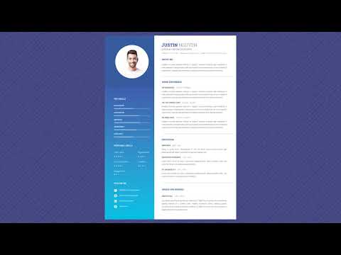 Free Professional Resume Template - Calm Sea