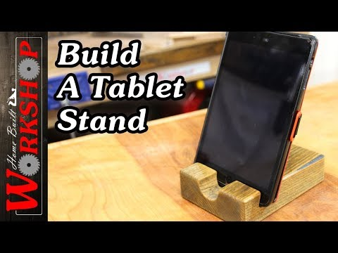 How to make an iPad/Tablet stand