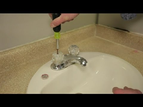 How Do I Replace Bathroom Sink Faucet Handles? : Bathroom Cleaning & More