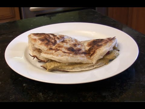 Indian Quesadilla with Chicken Curry