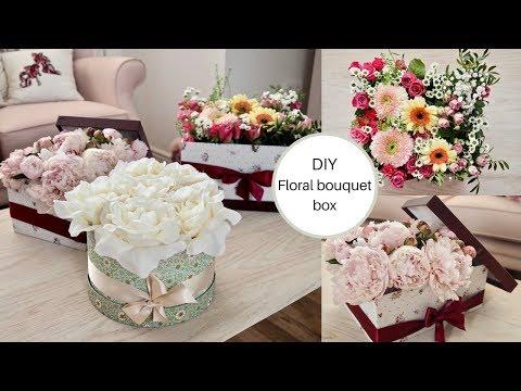 How to make a flower bouquet box, DIY flower hat box