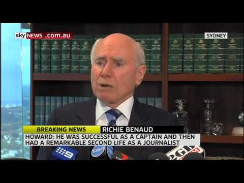 Former PM John Howard pays tribute to Richie Benaud