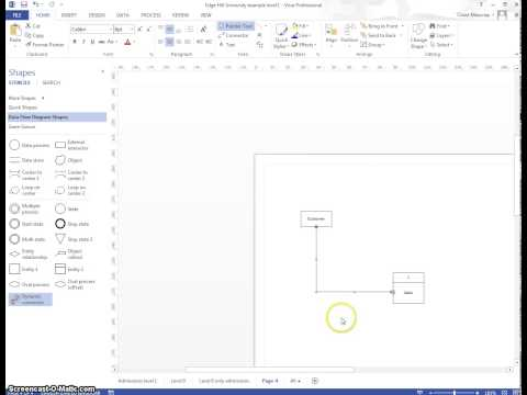 Basic VISIO 'how to' - creating DFD's
