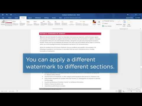 Add a Watermark to a Word Document