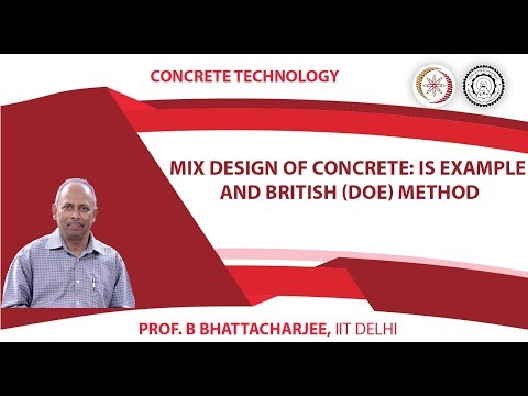 Mix Design of Concrete:IS Example and British (DOE) Method
