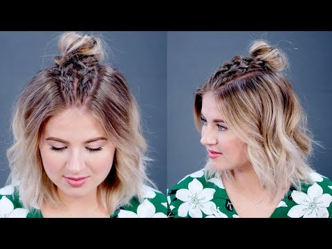 Hairstyle Of The Day: Easy Double Dutch Braids with Messy Bun | Milabu
