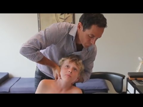 Dr. Ian - REVIVES CHILD'S NECK - FIXED by Gonstead Chiropractic