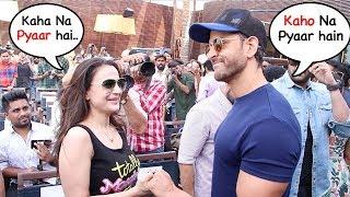 Hrithik Roshan Meets Ex-Gf Amesha Patel 20yrs After Kaho Na Pyaar Hai..Wht Happns Nxt Will Melt U