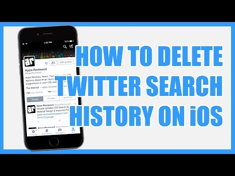 How To Delete Twitter Search History on iPhone / iPad