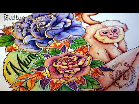 Half Sleeve - Custom Tattoo Design from Dark Design Graphics