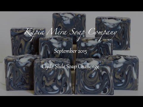 Homemade Soap - Moringa & Indigo Clyde Slide - Soap Challenge Entry