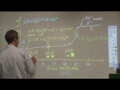Breaking down a WA/SB titration curve