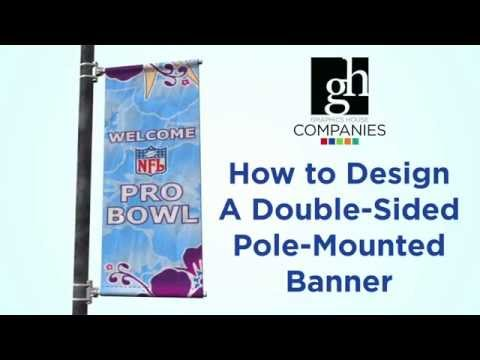 How to Design a Double-Sided Street Pole Banner for Print