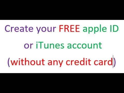 How to create a FREE Apple ID or iTunes account easily (without credit card) in a step by step way
