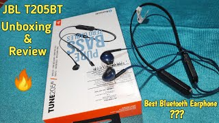 JBL Tune T205BT Wireless Bluetooth Earphone Unboxing & Review in Hindi | Best Bluetooth Headphones