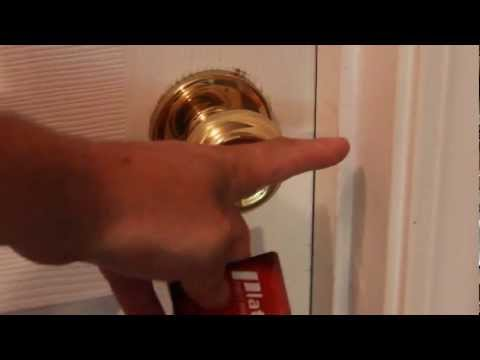 How to Pick a Lock With a Credit Card