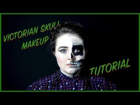 Victorian Faded Skull Halloween Makeup Tutorial!