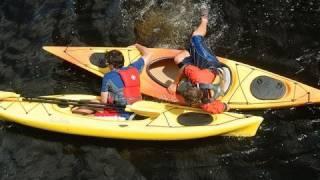 Re-entering a Sit-Inside Kayak
