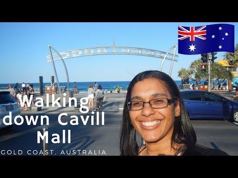 A walk through Cavill Mall   Surfers Paradise Australia