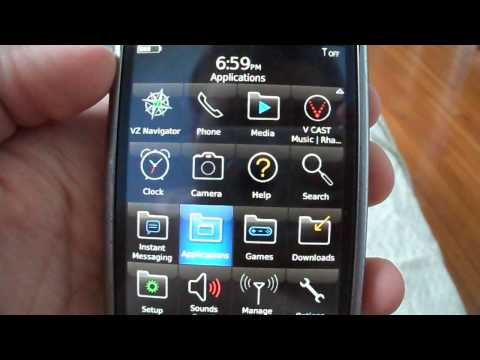 BlackBerry Storm 9530 Applications menu