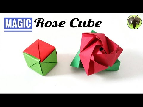 Magic Rose Cube - (Re-Edited - Normal Speed) - DIY Origami Tutorial by Paper Folds