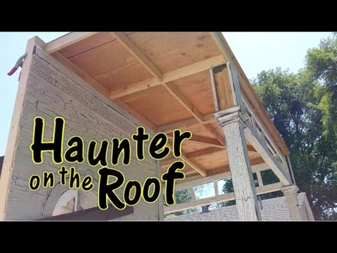 Building A Patio Cover Porch Roof - Haunted House Facade