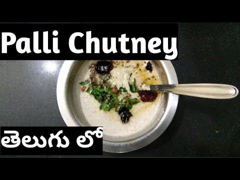 Palli Chutney    Peanut Chutney    In Telugu