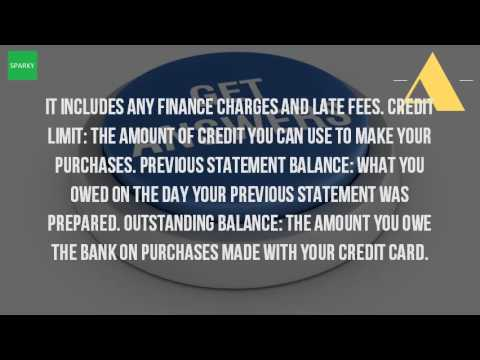 What Is An Outstanding Statement Balance?