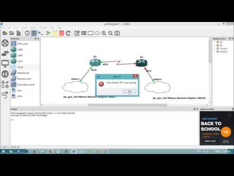 How To Install and Configuring IOS Router for GNS3 and Connect GNS3 with Vmware Virtual Machine