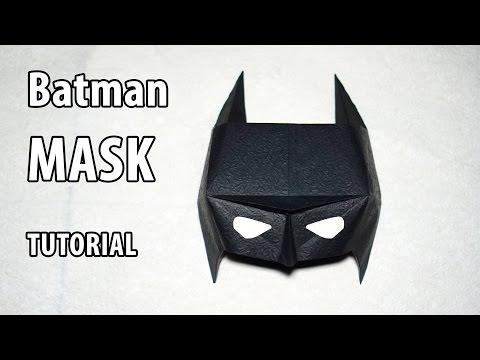 Easy Paper Batman mask tutorial - Origami DIY (Henry Phạm)