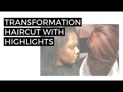 Transformation haircut  with highlights