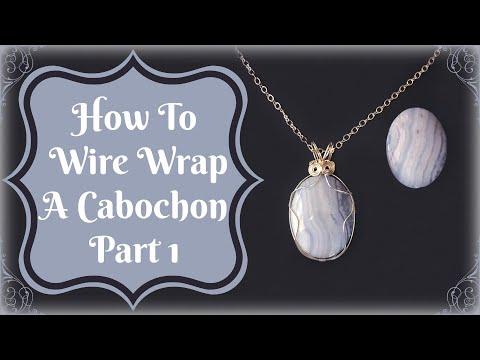 How To Wire Wrap A Cabochon Part 1 From Javi at B'sue Boutiques
