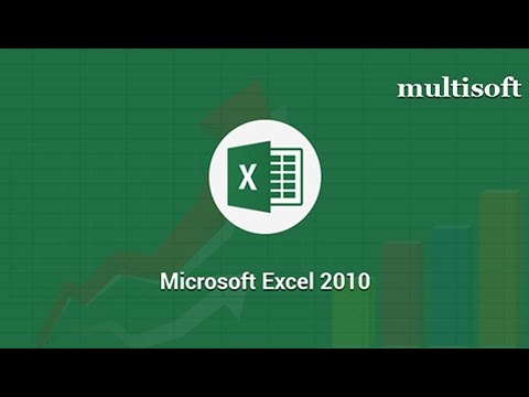 Microsoft Excel 2010 Online Certification Training | Multisoft Virtual Academy