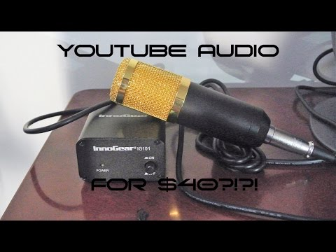 Neewer NW-800 Microphone + Innogear Phantom Power | Youtube Audio for $40