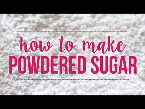 How to Make Powdered Sugar | 5 Minute Baking Tip