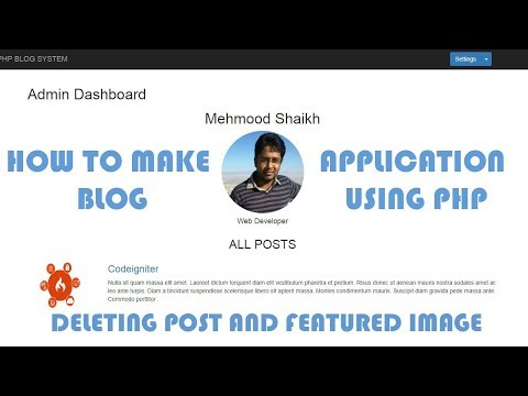 PHP BLOG Application - Deleting a Blog Post Part-16