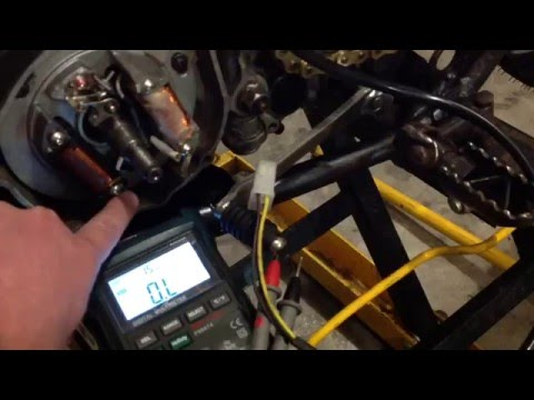 1974 Yamaha DT250A source coil testing
