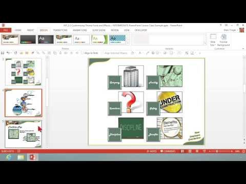 Microsoft Office PowerPoint 2013: Customizing Theme Fonts and Effects