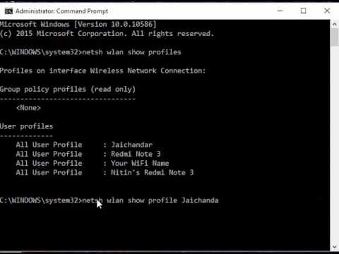 Recover WiFi Passwords Using Command Prompt (CMD)