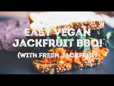 EASY Vegan Jackfruit BBQ (with fresh jackfruit!)