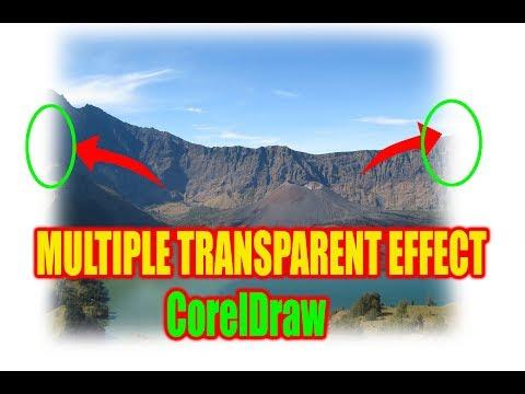 Multiple transparent effects in CorelDraw