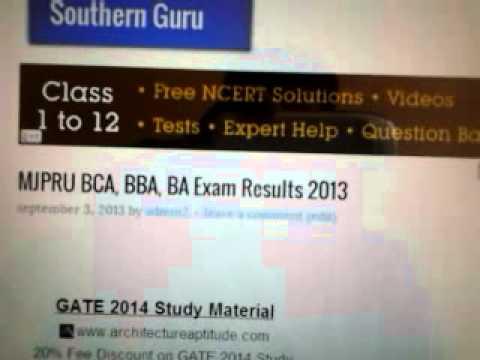 MJPRU BCA, BBA, BA Exam Results 2013