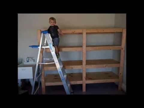Easy Garage Shelves!