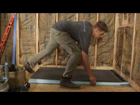 wedi | USA - How to build a waterproof walk in Shower with the wedi Fundo Riolito Neo Modular