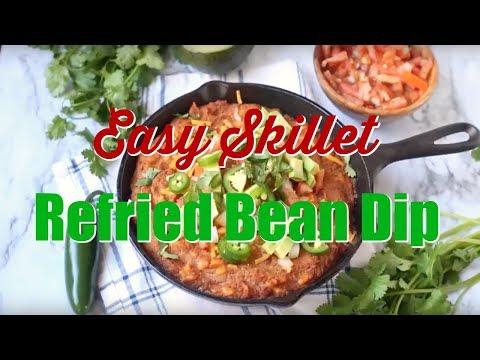 How to make: Easy Skillet Refried Bean Dip
