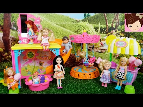 Barbie Chelsea Fun at The Fair - Funhouse Playset Ball Pit Fun Mirrors + Frozen Toddlers videos