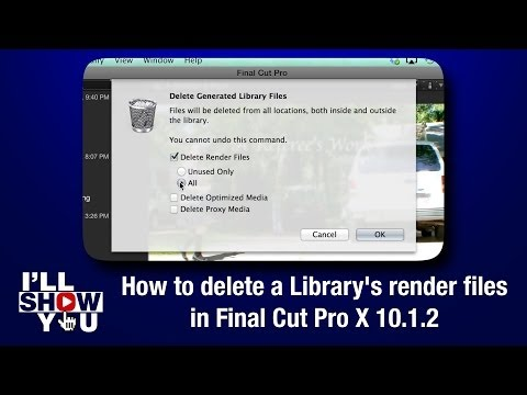 How to delete a Library's render files in Final Cut Pro X 10.1.2