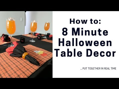 8 Minute Halloween Thrift Store Table Decor Set Up in Real Time