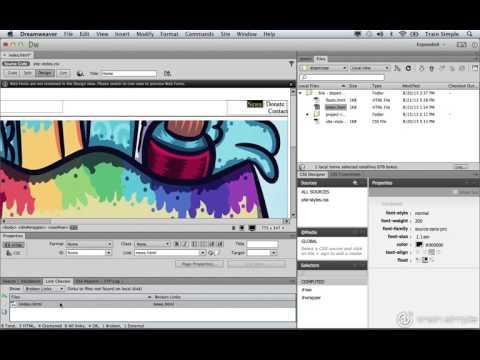 Dreamweaver CC Tutorial Site Management  Link Checker
