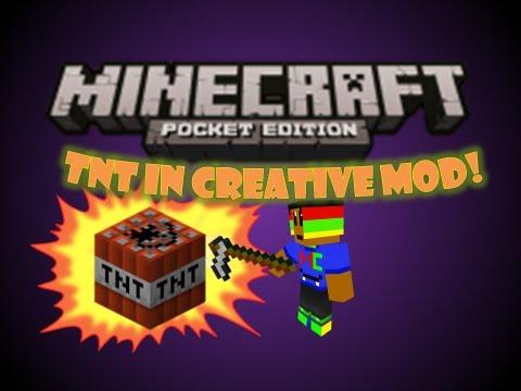 Minecraft Pocket Edition Mods: Flint & Steel in Creative!